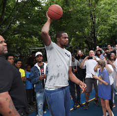 Kevin Durant Unveils New Basketball Court In The East Village