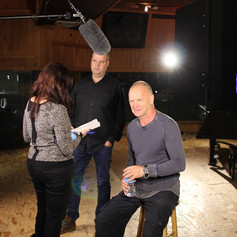 Tim Hayes & Sting in the Studio