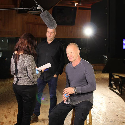 Tim Hayes & Sting in the Studio