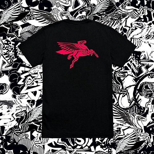 Red Pegasus Black Tee