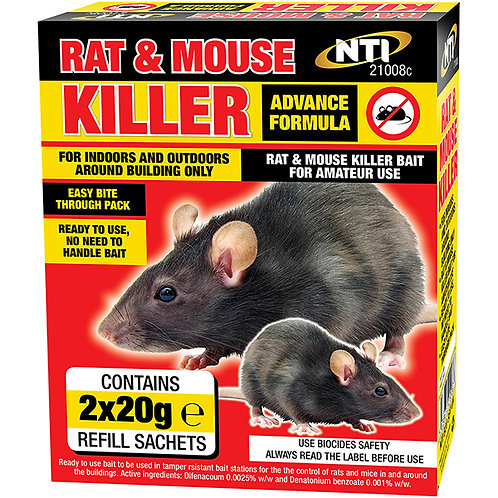 Rat & Mouse Killer 2 X 20G Sachets
