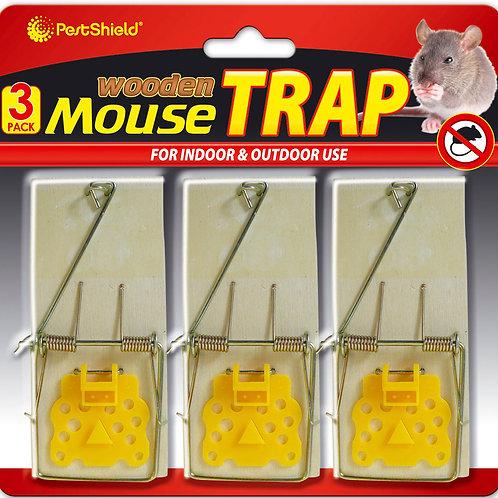 wooden mouse traps 3 PK