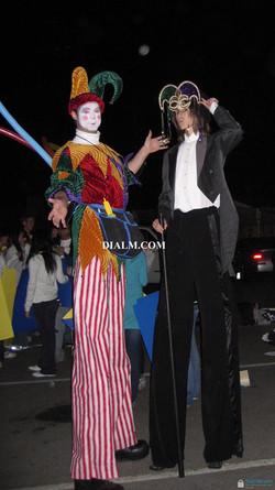 stilt walker jester balloon artist