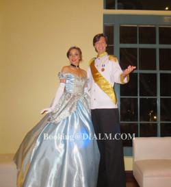 Prince & Princess Stilt Walkers Cinderella & Prince Charming