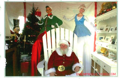 Christmas Santa with Christmas Elf and Ice Fairy Dial M Productions