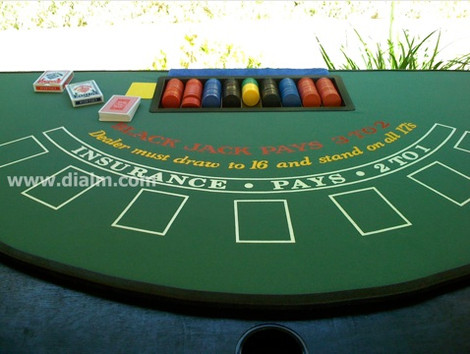 Casino Blacktack Table Top by dialm.com.