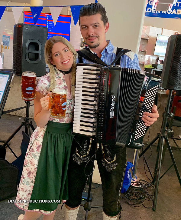 Oktoberfest Kathrin and Aleksei Oktoberfest Duo Los AngelesDial M Prod