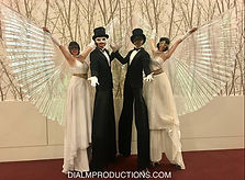 Stilt Walkers with Wings - Masked Ball U