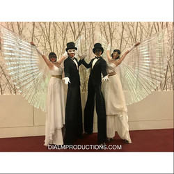 Stilt Walkers with Wings - Masked Ball UNCF