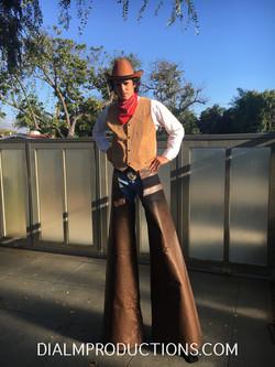 Cowboy Stilt Walker LA DialM