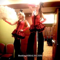 Stilt Walkers Cigar Girls