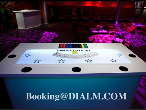 Casino LED White Blackjack Tables