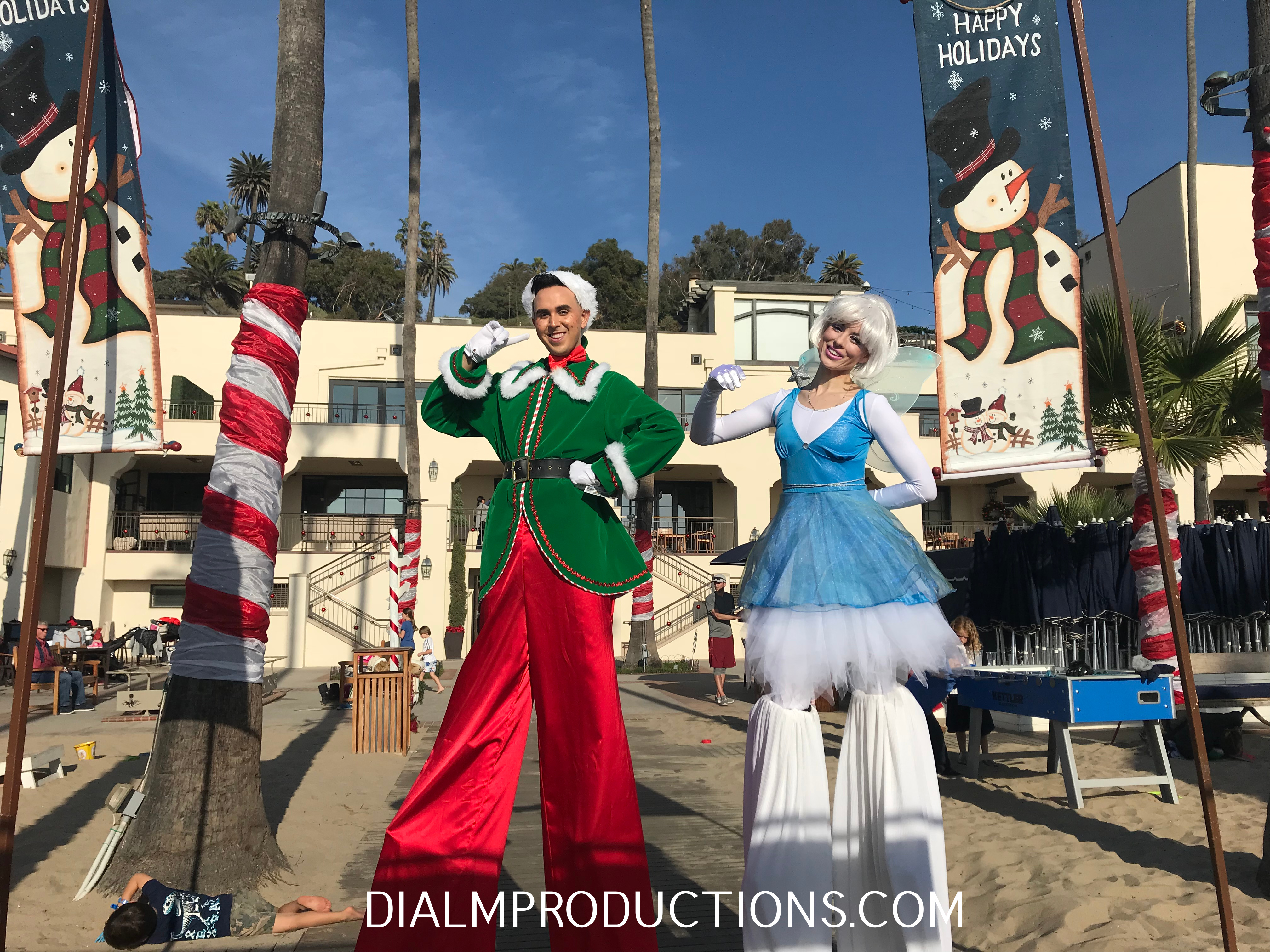 Christmas Elf and Ice Fairy Dial M Productions