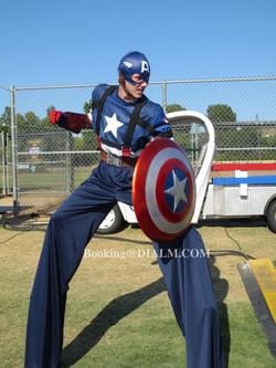 Captain America Stilt Walker