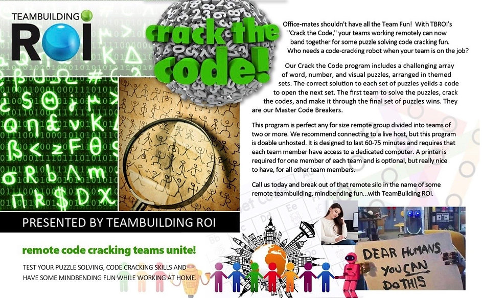 VIRTUAL Team Building Crack the Code (1)