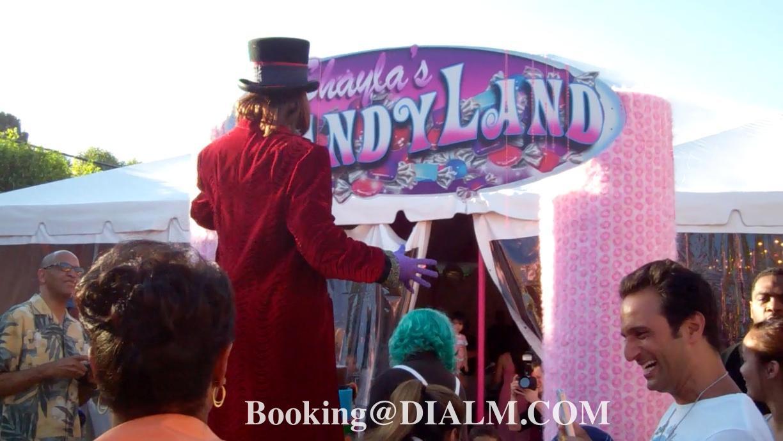 Willie Wonka Los Angeles Stilt Walker