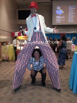 Carnival Barker Stilt Walker #DIALM #Carnival #StiltWalker #LosAngeles #EventPlanner