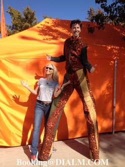 Stilt Walker Carnival Barker