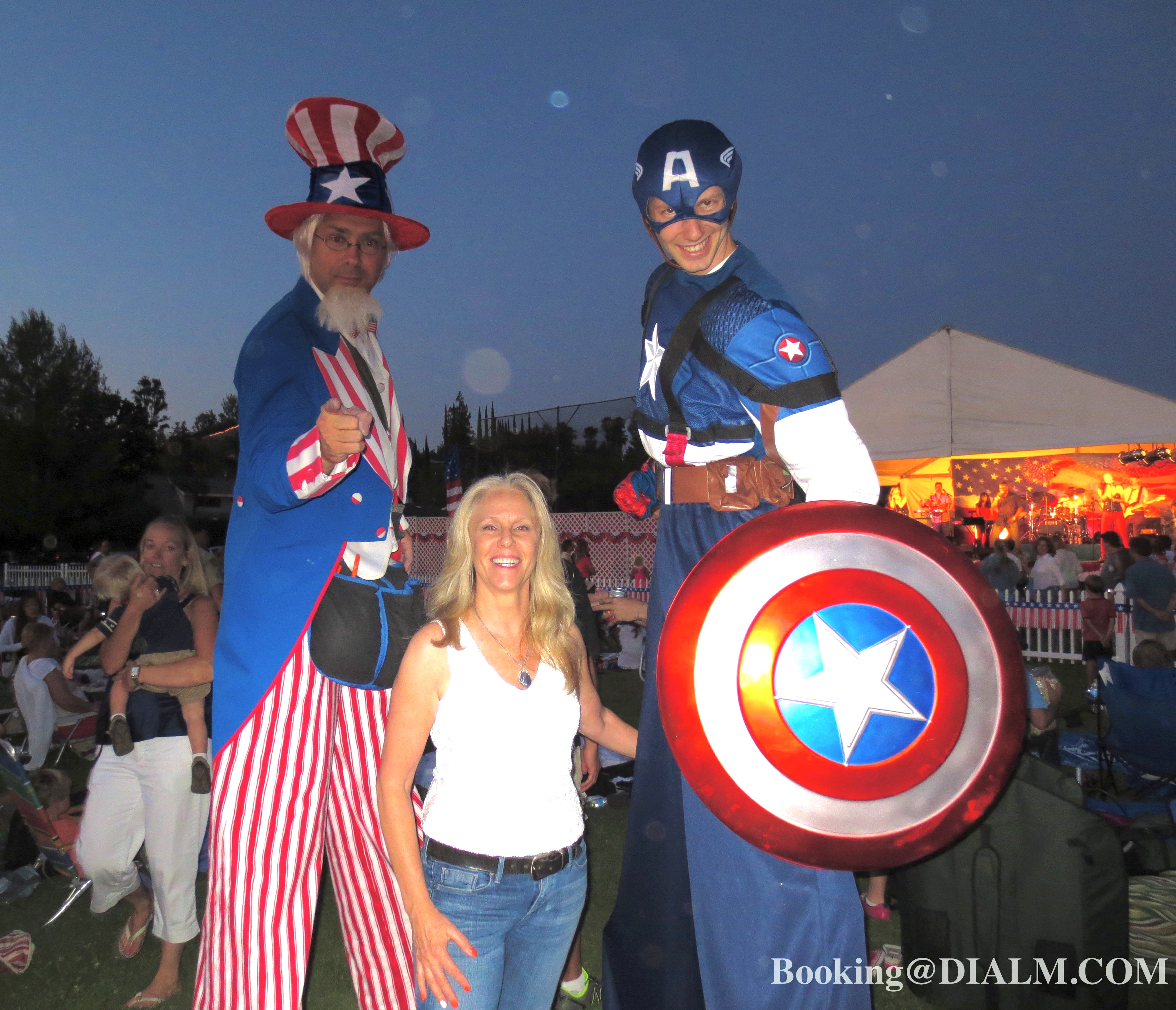 Uncle Sam Stilt Walker Cptn America