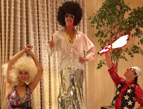 Disco Stilt Walker Dancer Juggler