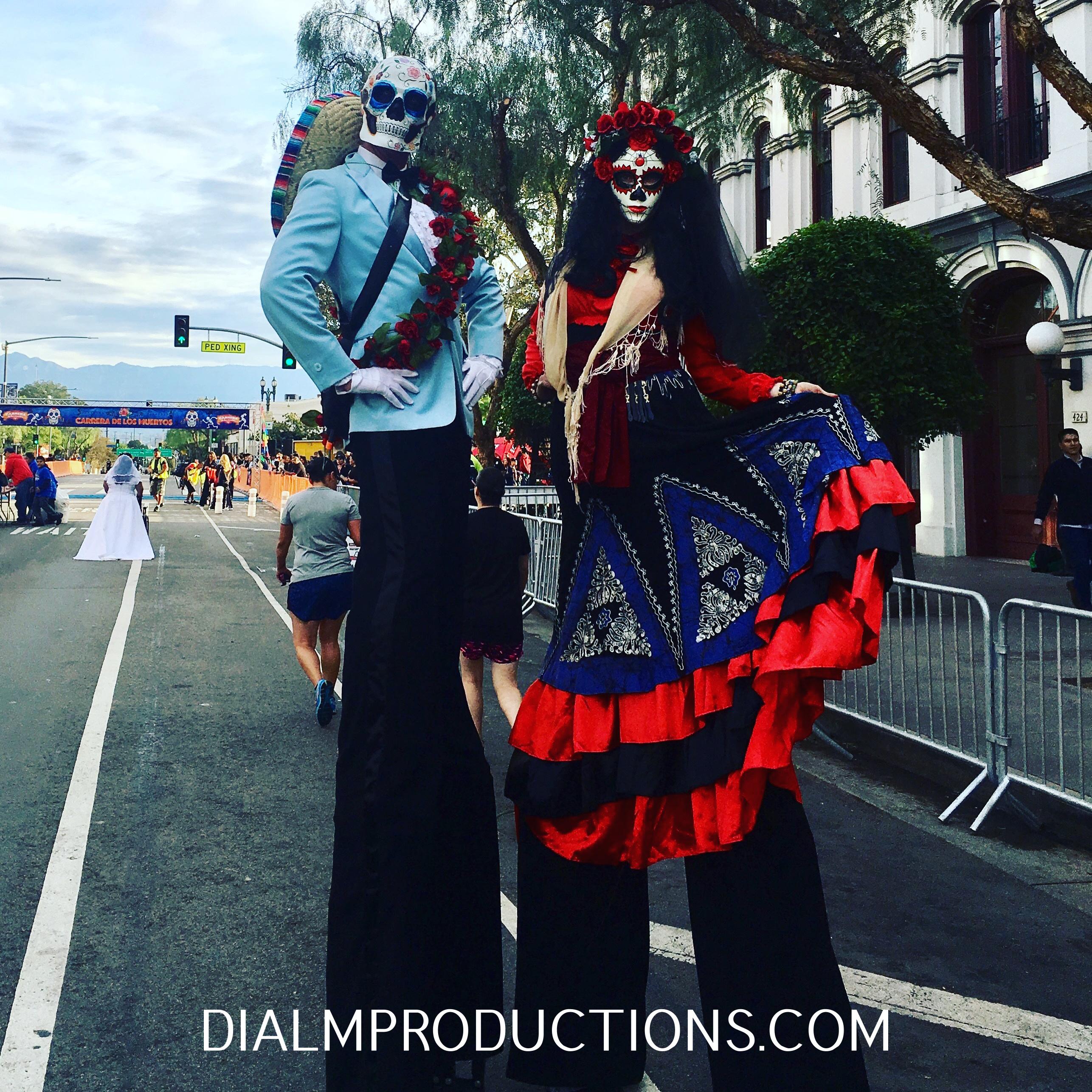 Dia De Los Muertos Stilt Walkers