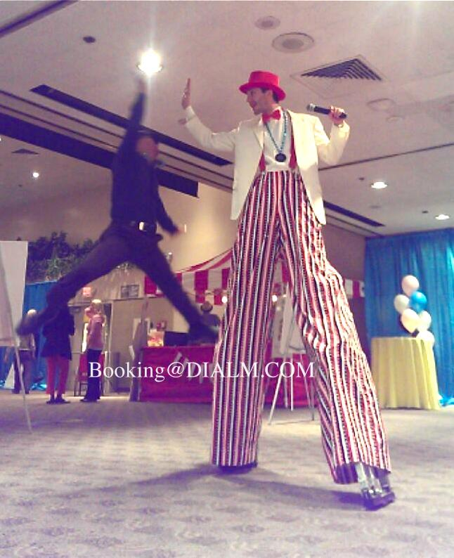 Carnival Barker Stilt Walker DIALM #Carnival #StiltWalker #LosAngeles #EventPlanner