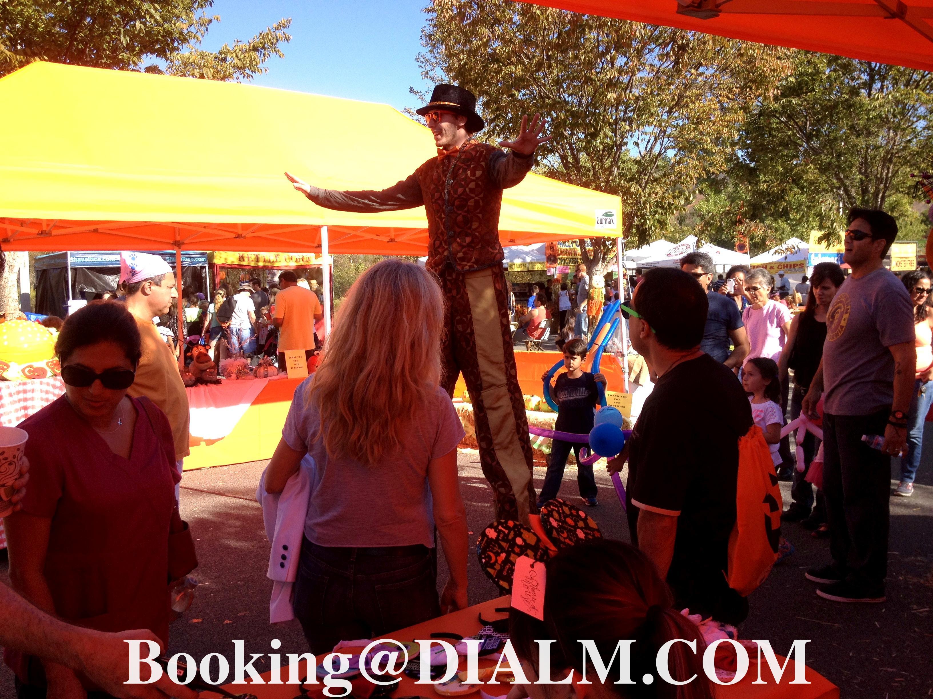 Carnival Barker Stilt Walker