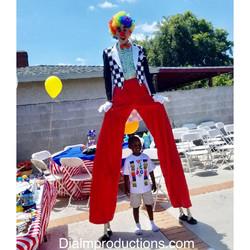 Clown Circus Stilt Walker