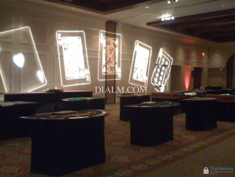 Large Casino Party Rentals Los Angeles craps, blackjack, roulette, poker tables