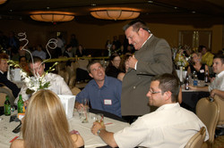 Murder Mystery Whodunnit Dial M Detective interrogates guests