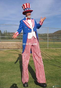 Uncle Sam Stilt Walker and Balloon Twister #UncleSam #StiltWalker #BalloonTwister #DIALM by dialm.co