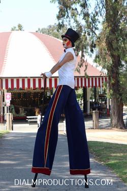 Clown Stilt Walker pegs