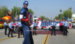 Captain America Stilt Walker Parade #Cap