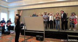 Singing Team Building Event with The Band #DIALM #teambuilding #losangeles #EventPlanner