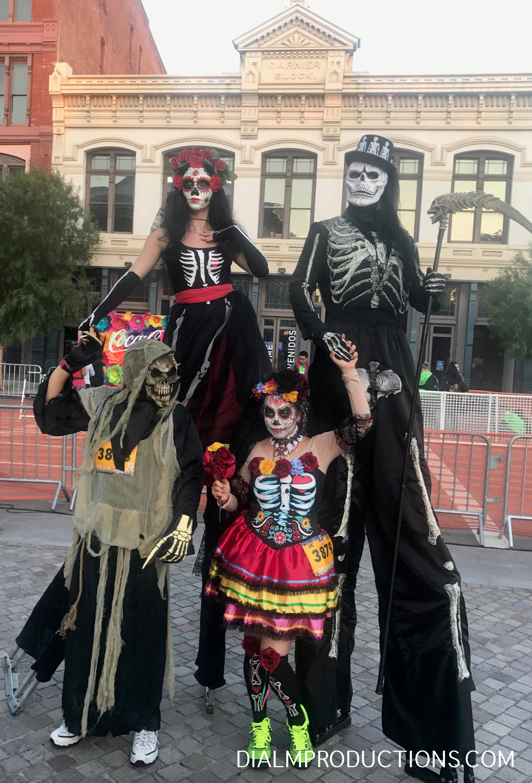 Dia De Los Muertos Stilt Walkers Dia