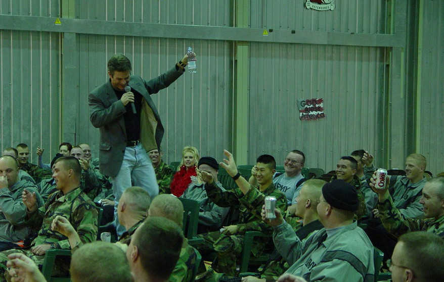 Performing for the troops