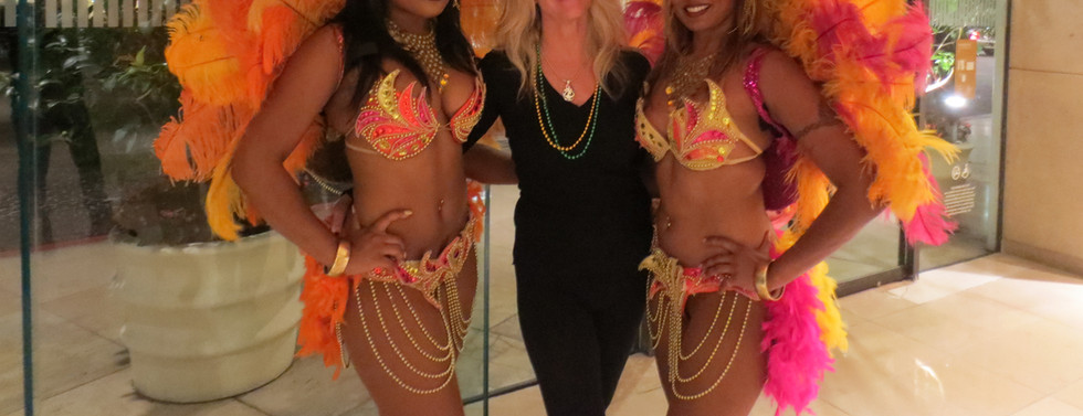 Peggy Phillips and Mardi Gras Dancers