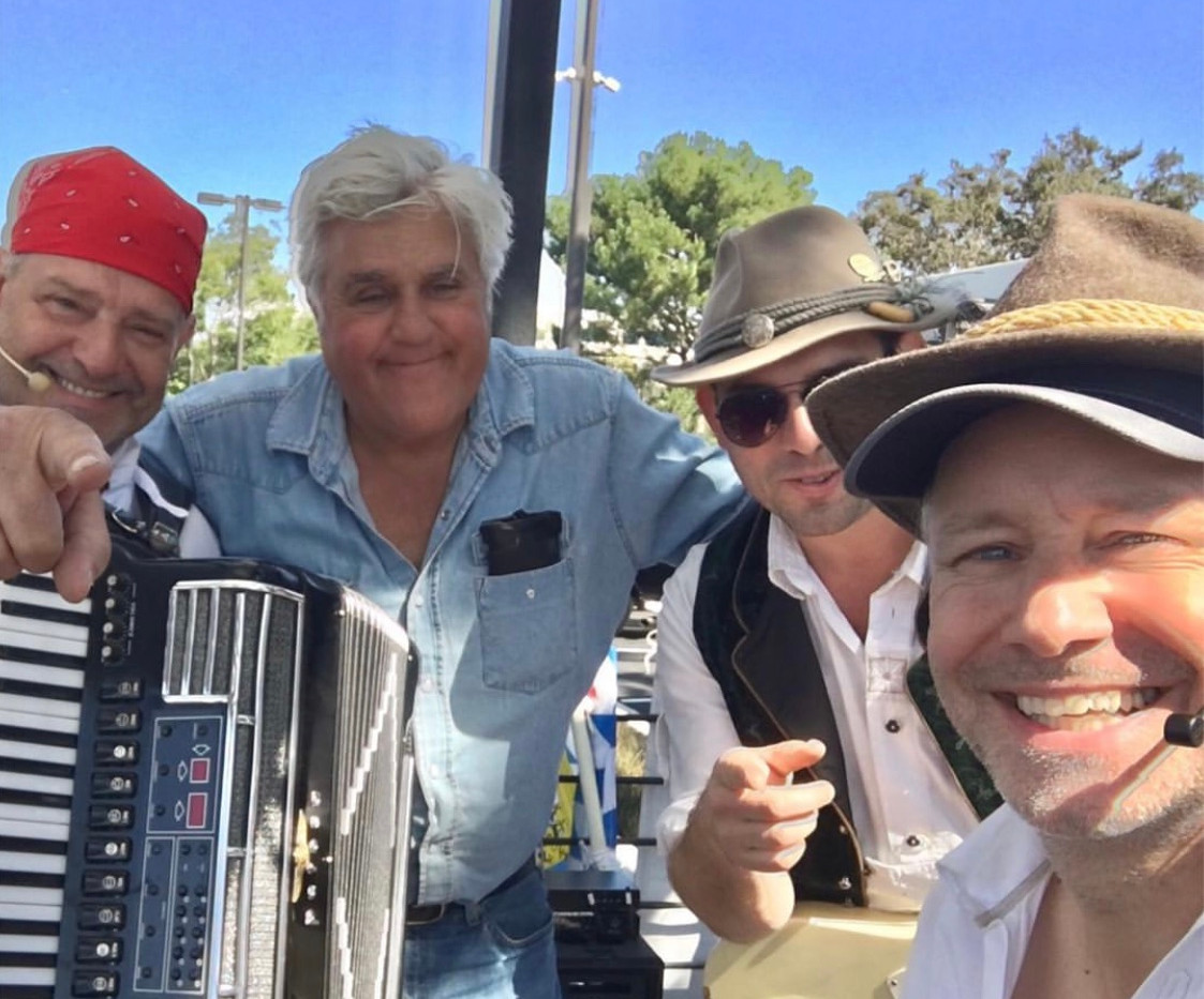 Oktoberfest Jay Leno at Finish Line Auto