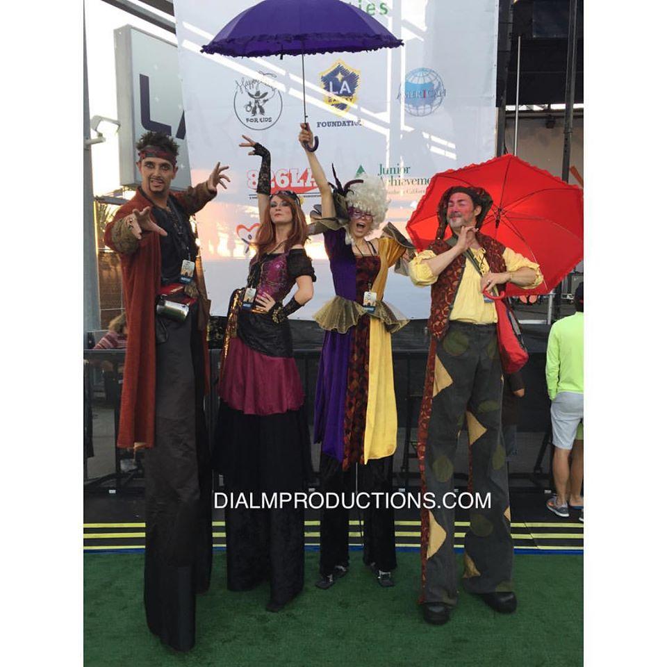 Stilt Walkers Pirates Mardi Gras #DIALM