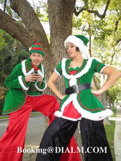 Christmas Elves stilt walking DIALM