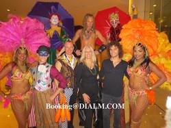 Mardi Gras Stilt Walkers Los Angeles