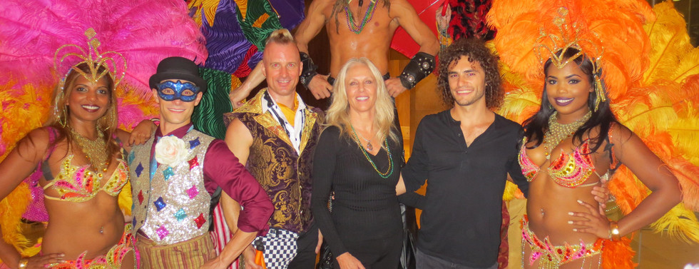 Mardi Gras cast with Peggy Phillips