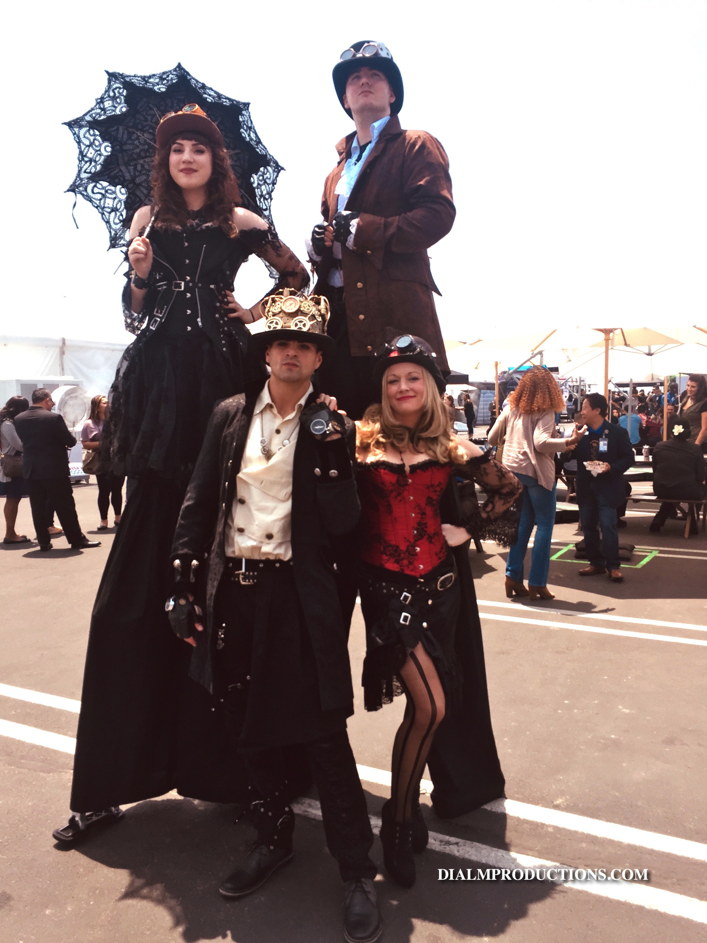 Steampunk Stiltwalkers & Characters by D