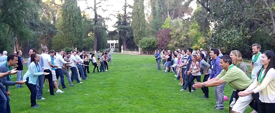 Large Company Picnic Games Team Building