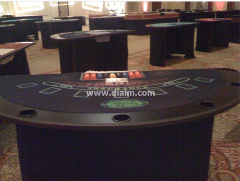 Casino Blackjack tables front and back v