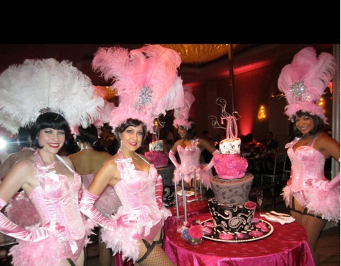 Moulin Rouge Theme Party Birthday Cake
