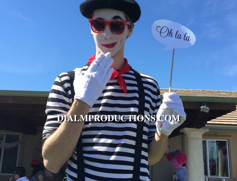 French Mime Los Angeles Event Planner -