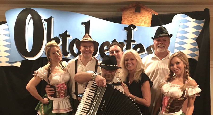Oktoberfest Band with dancers and Peggy