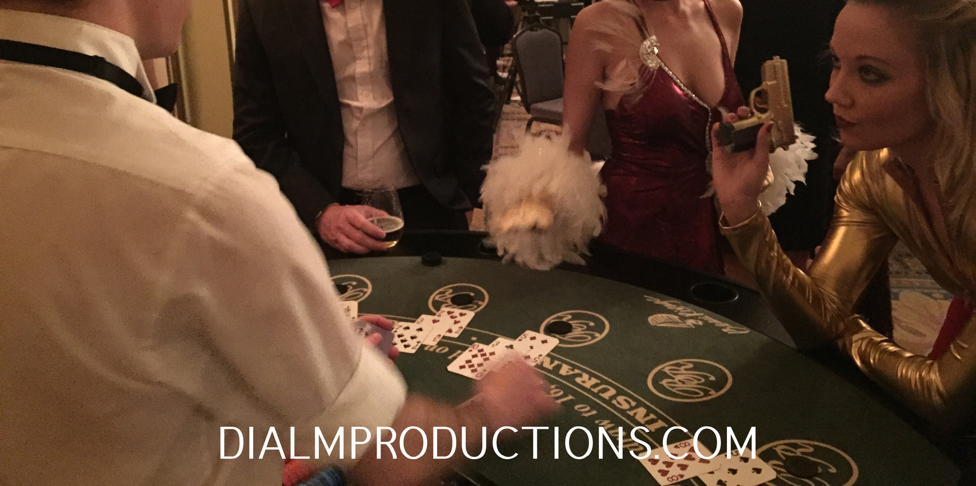 Casino party rentals with Show Girls los