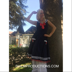 Sailor Girl Stilt Walker